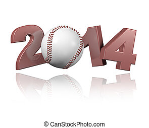 Baseball 2014 design with a white Background