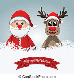 santa clause reindeer merry christmas - santa clause...
