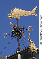 Weather Vane - Fish Market - London - A weather vane in the...