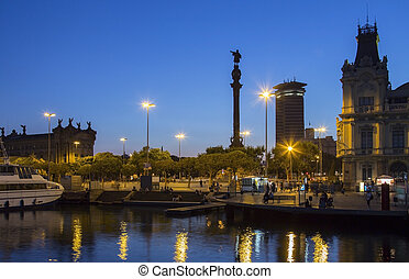 Columbus Monument - Barcelona - Spain - Columbus Monument...