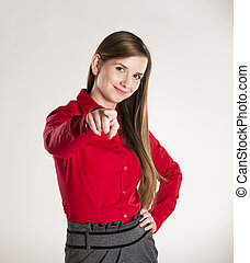 business woman - Successful business woman is posing in...