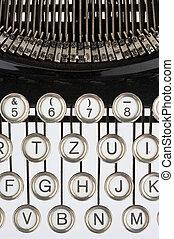 Old typewriter - Keyboard of an old, black typewriter