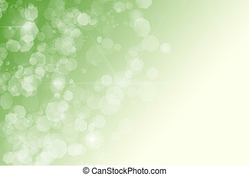 green abstract background white sparkles bokeh stars