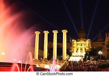 Museu Nacional dArt de Catalunya and Magic Fountain,...