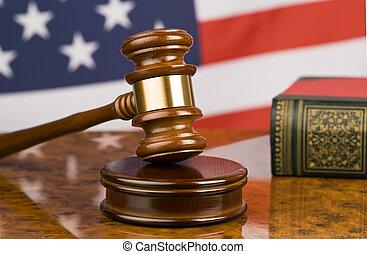 martillo, norteamericano, bandera