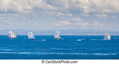 The Tall Ships Leave Melbourne - The Tall Ships fleet leave...