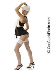 keeping up fedora - very cute pinup girl in sexy dancer...