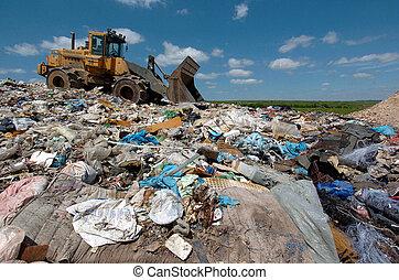 desperdício, eliminação, local