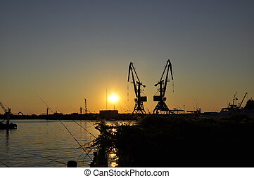 evening in the port