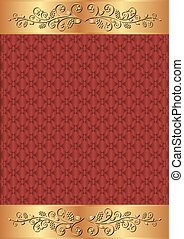 crimson background - crimson and gold background with floral...