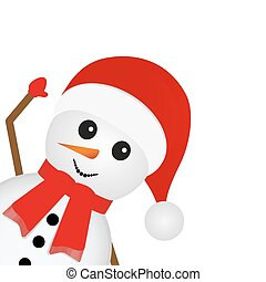 snowman looks on a white background