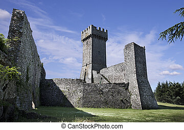 Ancient castle Rocca in Radicofani. Italy - Ancient castle...
