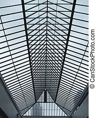 Roof structure - Glass and steel structure for translucent...
