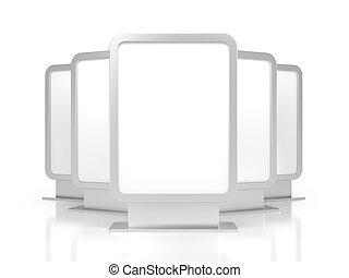 Group of blank billboards - Business objects. Isolated on...