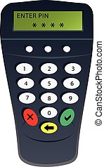 PIN code - Commercial equipment for PIN code client. Vector...