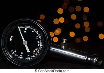 Pressure gauge with bokeh