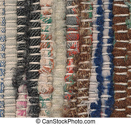 Background - closeup old rag rug - Background - closeup old...