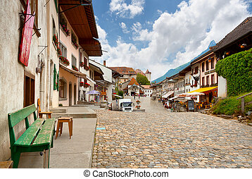 The Swiss Village Of Gruyere