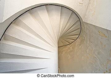 lighthouse white spiral