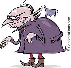 halloween vampire cartoon illustration - Cartoon...