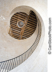 stone lighthouse stairway