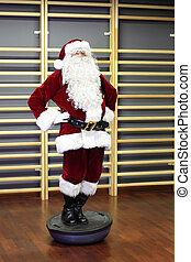 Santa Claus Fitness training