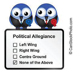 Disillusioned voters - Bird politicians with disillusioned...