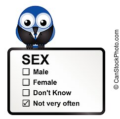 Sexually deprived - Comical sexually deprived bird isolated...