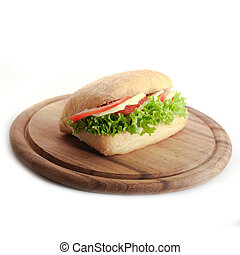 Mozzarella Sandwich - Sandwich with Mozzarella, tomatos and...