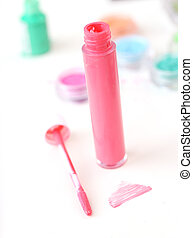 Colorful lip gloss