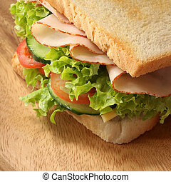 Fresh Sandwich - Close-up of a fresh sandwich