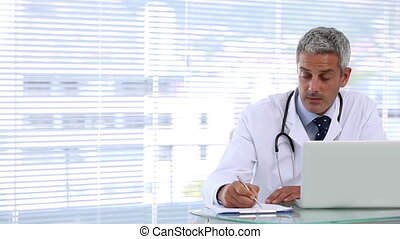 Patient entering in her doctor office to be consulted