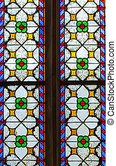 Marktkirche in Quedlinburg, Germany - stained-glass window...