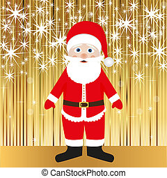 Santa Claus on a gold background