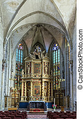 Marktkirche in Quedlinburg, Germany - Interior church...