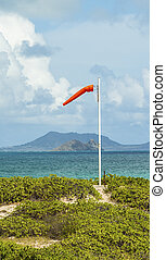 Windsock - A windsock blowing in the wind above Waimanalo...