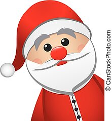 santa claus isolated white background