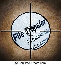 transferencia, blanco, archivo