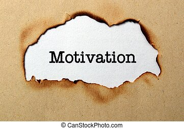 Motivation text on paper hole