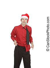 Rumpled Holiday Office Worker - Untucked and disheveled this...