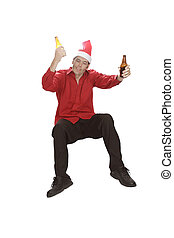 Falling Drunk Christmas Office Professional - A beer for...