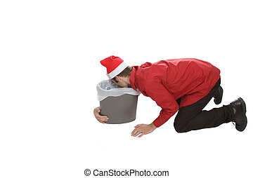 Puking Office Worker - Holiday party gone wrong This office...