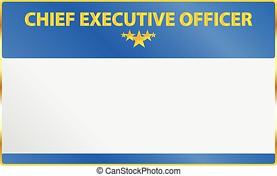 Chief Executive Officer Card Vector Illustration