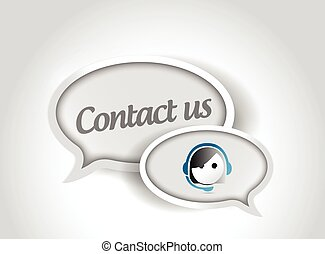 contact us message communication concept illustration design...