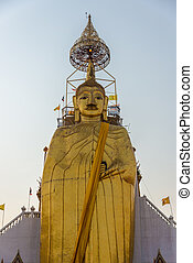 Huge Golden Big Buddha, Culture, Religion, Trtadition, Bangkok City. South East Asia. Thailand.