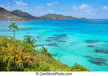 Incredible caribbean sea view of Providencia island near San...