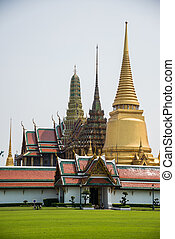 Pagoda at Royal Palce, Bangkok City, Culture, South East Asia, Thailand.