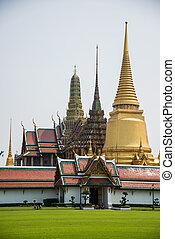 Pagoda at Royal Palce, Bangkok City, Culture, South East Asia, Thailand.