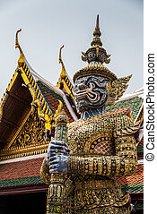 Sculpture at Royal Palce, Bangkok City, Religion, Culture and Tradition, South East Asia, Thailand.