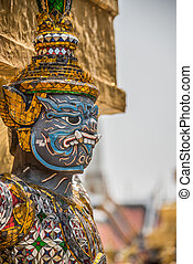 Sculpture at Royal Palace, Bangkok City, Religion, Culture and Tradition, South East Asia, Thailand.